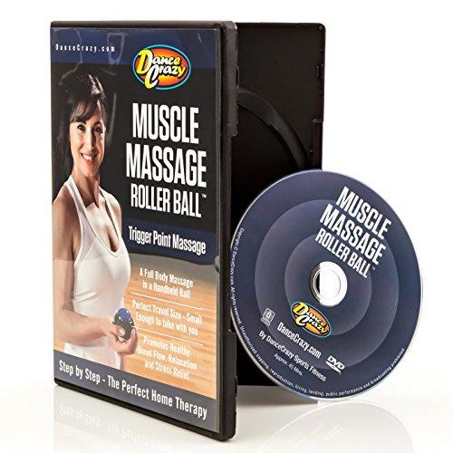 DanceCrazy Muscle Massager Roller Ball DVD - Instructional Massage Rolling Ball