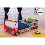KidKraft - Fire Truck Toddler Bed | 6 Separate Compartments for Storage - Multicolor