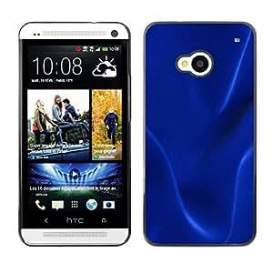Paccase / SLIM PC / Aliminium Casa Carcasa Funda Case Cover - Dark blue texture - HTC One M7