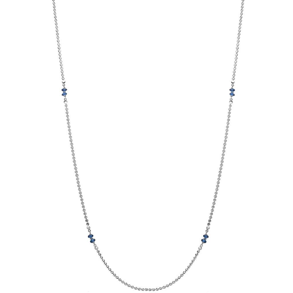 Di MODOLO Diamante London Blue Topaz 42'' Necklace in Sterling Silver