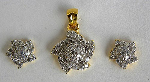 Sunrise Exporters Indian Dimond Ftd AD Earring with Pandat set