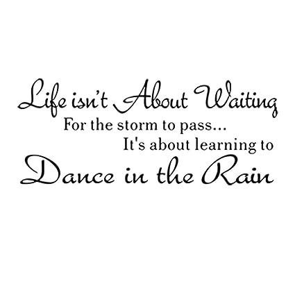Amazon com: WINOMO Proverbs Wall Decal Dance Tn the Rain