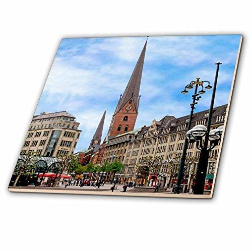 3dRose ct_137266_1 Rathaus Market Platz Square, Hamburg, Germany-Eu10 Mgl0204-Miva Stock Ceramic Tile, 4-Inch (Grad Platz)