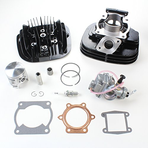 NICHE Cylinder Head Piston Carburetor Top End Rebuild Kit for Yamaha Blaster 200 1988-2006