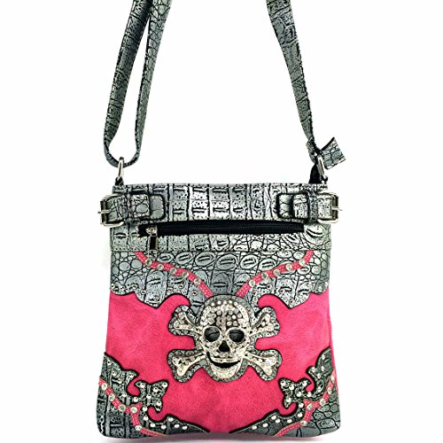 Hot Pink Skull Motorcycle Conceal and Carry Bag
