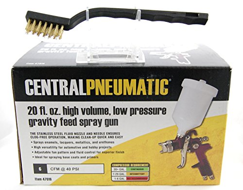 central-pneumatic-20-oz-gravity-feed-spray-gun-plus-a-brass-detail-brush