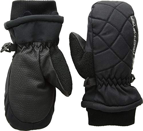Obermeyer Kids Unisex Puffy Down Mitten (Little Kids/Big Kids) Black XS