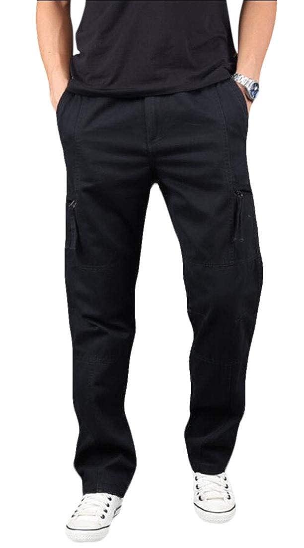 yibiyuan Men Casual Cargo Pants Multi Pocket Military Combat Work Pants