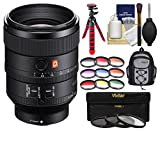 Sony Alpha E-Mount FE 100mm f/2.8 STF GM OSS Lens with Backpack + 3 UV/CPL/ND8 & 9 Colored Filters + Tripod + Kit