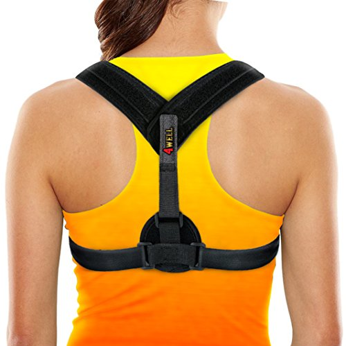 Back Posture Corrector Brace Perfect for Womens, Mens & Teens. Improve Your Posture with Best Elastic Posture Shoulder Back Brace. Figure 8 Brace Clavicle Small/Medium by 4well