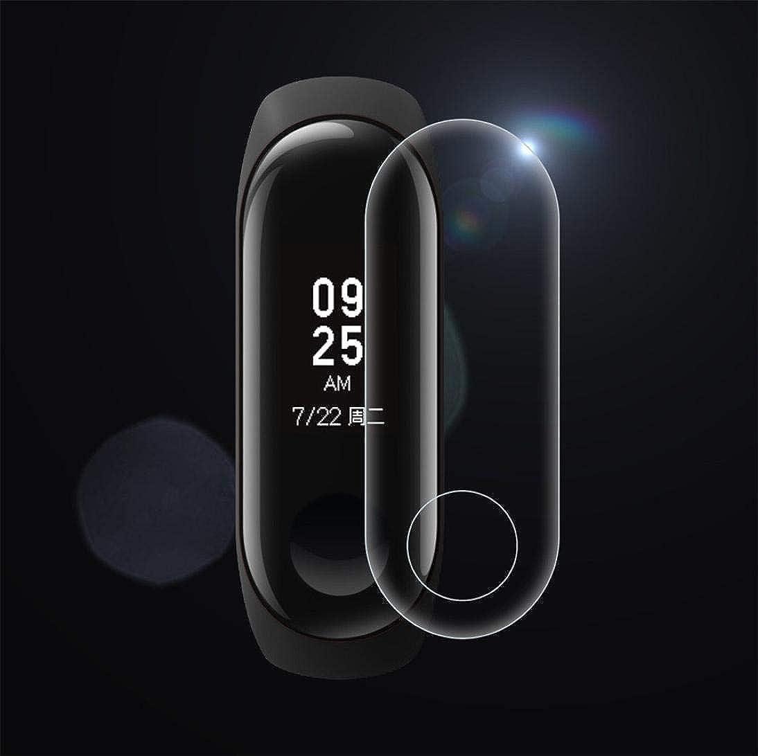 JiaMeng para Xiaomi MI Banda 3, Película de Cristal templada de la Pantalla LCD del Protector de la Pantalla de la Cubierta para Xiaomi Mi Band (Negro ...