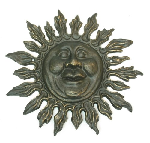 - Sun Wall Decor Hanging Sculpture Face Ornament Home Garden Yard Metal Statue Outdoor Indoor Room Porch Decoration