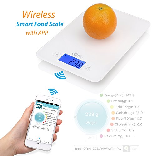 AVLT-Power Wireless Smart Food Scale with Nutritional Calculator Application - Auto-Updates From USDA Database