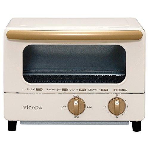 아이리스 오야마 오븐 toaster 토스트2매 4단계 온도 조정 기능 첨부 와 ricopa 아이보리 EOT-R1001-C