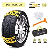 Search : AUTMOR Car Snow Chains Emergency Anti Slip Snow Tire Chains for Most Cars/SUV/Trucks, Winter Universal Security Chains Tire Width 165mm-275mm/6.5-10.8'', Amazing Traction Thickening Durable 6pcs