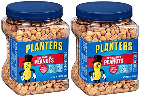 Planters Dry Roasted Peanuts, 34.5 Ounce Container, 6 Tubs by Planters (Image #1)