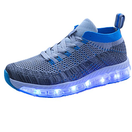 USB Charging 11 Colors Led Light Up Shoes Fashion Sneakers Sport Shoes for Mens Womens Girls Boys ?style-11 40/9 B(M) US Women / 6.5 D(M) US Men? -