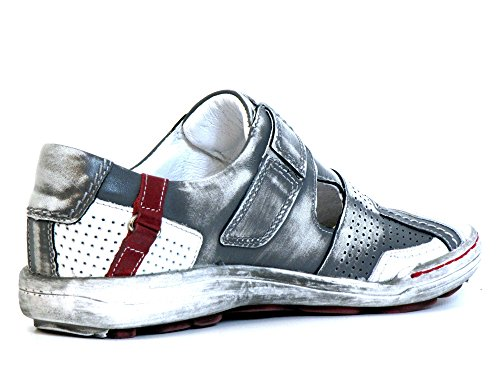 Kacper Mujeres Zapatos llanos gris, (grau-kombi) 2-4308 560 grau-kombi