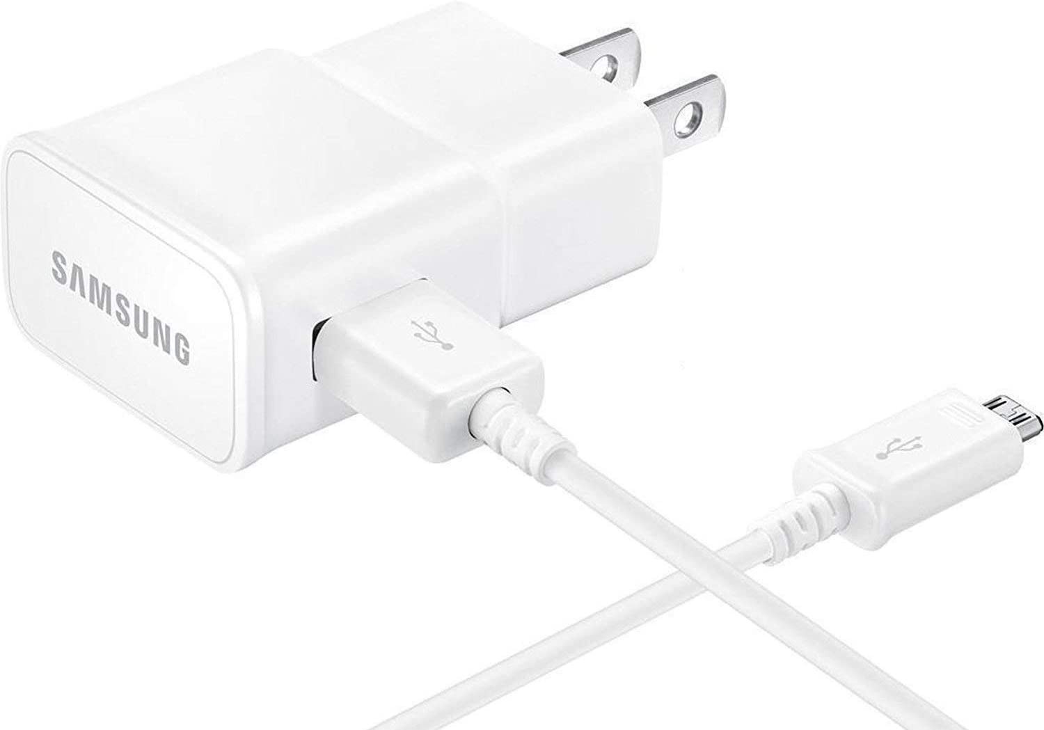 T-Mobile Samsung Galaxy J7 2015 Adaptive Fast Charger Micro USB Cable Kit! [1 Wall Charger + 3 FT Micro USB Cable] AFC uses Dual voltages for up to 50% Faster Charging! - Bulk Packaging