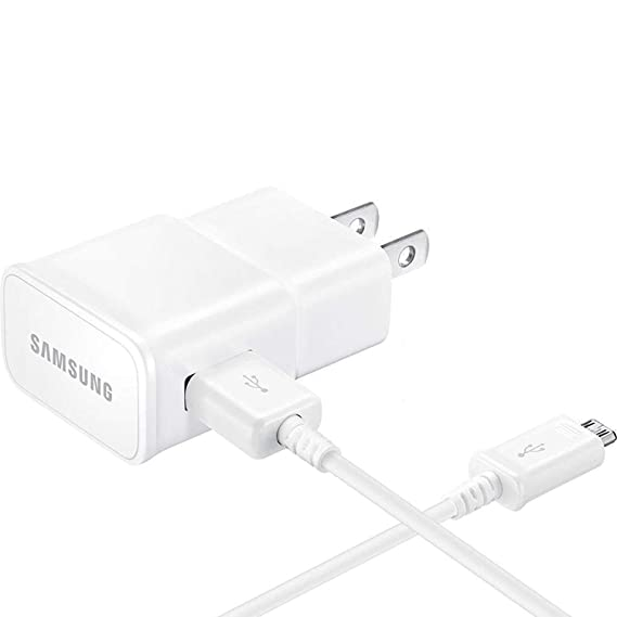 T-Mobile Samsung Galaxy J7 2015 Adaptive Fast Charger Micro USB Cable Kit!  [1 Wall Charger + 3 FT Micro USB Cable] AFC uses Dual voltages for up to