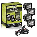 AVEC 4in. 18w LED Utility Light Kit with Wiring Harness (4 Pack)