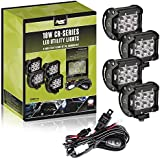 AVEC 4in. 18w LED Utility Light Kit with Wiring Harness (4 Pack) LED work lights lamps pods cree Off road 4x4 driving race