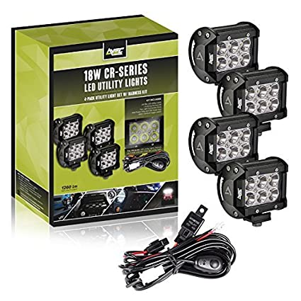Astounding Amazon Com Avec 4In 18W Led Utility Light Kit With Wiring Harness Wiring Digital Resources Funapmognl