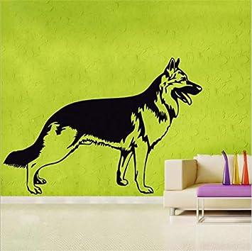 Etiqueta Del Vinilo Del Pastor Alemán Belleza Pet Shop Art ...