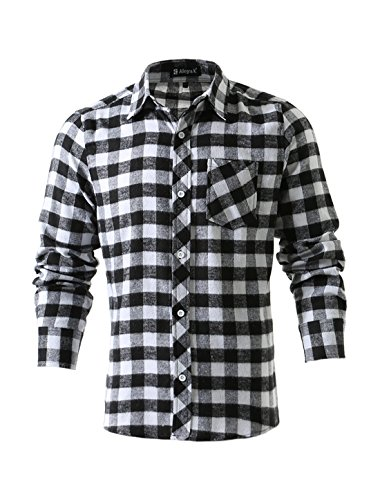 uxcell Plaids Flannel Shirt Pockets