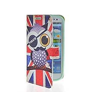 MOONCASE Cute Owl Design Flip Leather Wallet Card Pouch Stand Back Case Cover For Samsung Galaxy S3 I9300