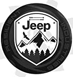 Resilient Industries JEEP SPARE TIRE cover Eagle Adventure Badge Jeep Wrangler Jk Tj Lj Yj Cj Unlimited 4X4 Heart Nature Moab Sahara (30''-33'' Tire)