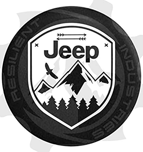 Jeep rueda de repuesto para Eagle Adventure Badge Jeep Wrangler JK TJ CJ LJ YJ Unlimited Rubicon 4 x 4 Corazón Naturaleza Moab Sahara: Amazon.es: Coche y ...