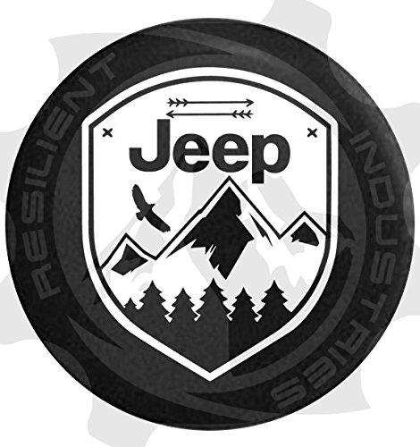 Resilient Industries Jeep Spare TIRE Cover Eagle Adventure Badge Jeep Wrangler Jk Tj Lj Yj Cj Unlimited 4X4 Heart Nature Moab Sahara (30