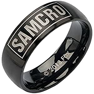 "Sons of Anarchy ""SAMCRO"" Black Stainless Steel Ring (6)"