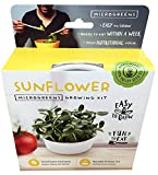 Mini Microgreens Growing Kit - Sunflower - Grow Your Own Organic Gourmet Micro Greens Indoors: Salad, Sandwich & Garnish - Easy & Fun - Great Gift or Stocking Stuffer (Sunflower)