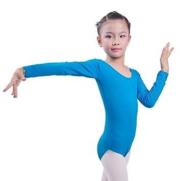 Kinder Mädchen Body Langarm Gymnastikanzug Ballettanzug Turnanzug Ballett Trikot