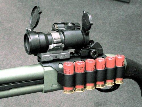 Mesa Tactical Saddle-mount SureShell 4-shell Carrier for 12-ga. Remington;