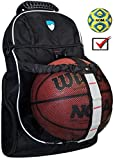 Hard Work Sports Basketball Backpack With Ball Compartment - Soccer Backpack for Kids, Men and Women