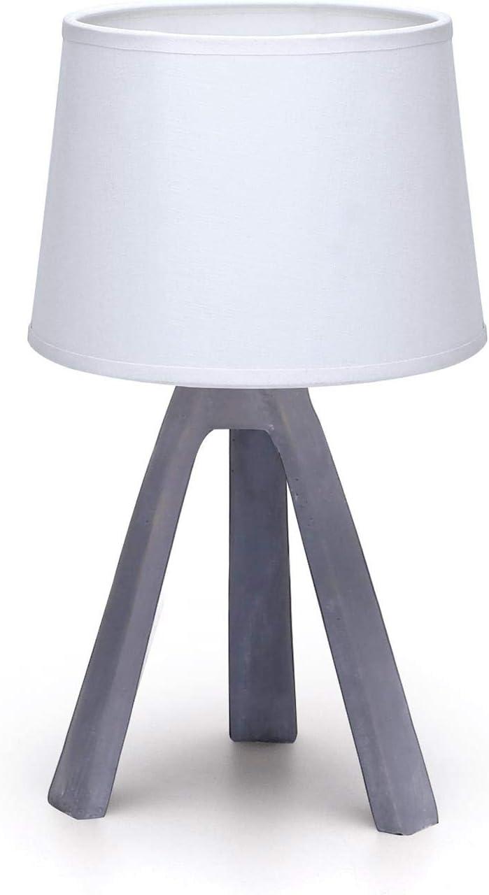 Aigostar - Lámpara de Mesa E14, LED Luz Mesita de Noche, Pantalla ...