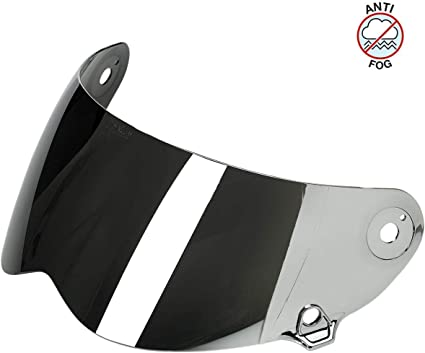 Biltwell Inc Lane Splitter Anti-Fog Helmet Face ShieldChrome