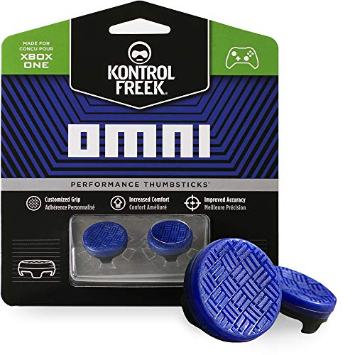 KontrolFreek Omni for Xbox One Controller   2 Performance Thumbsticks   2 Low-Rise Concave   Blue