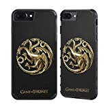 Official HBO Game Of Thrones Gold Targaryen Embossed Sigils Gold Gripper Case for Apple iPhone 7 Plus / iPhone 8 Plus