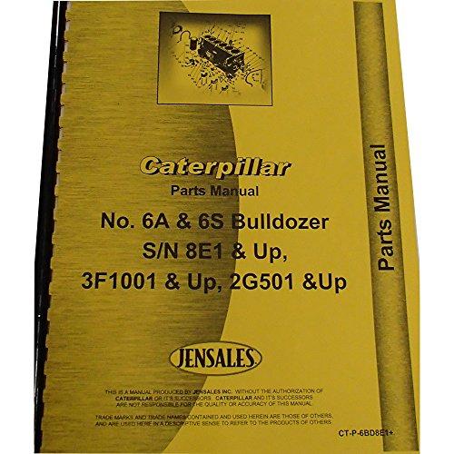 for Caterpillar D6 Crawler Dozer Parts Manual (New) (CT-P-6BD8E1+