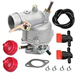Butom Carburetor with Fuel Line Filter Clamp Valve for Coleman Powermate 3250 4000 5000 Watt Portable Gas Pincor 2500 3500 Briggs & Stratton 5000 Chicago Electric 8000 Watts Generator