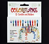 Colorflame Birthday Candles, 12-Pack of 12 Candles