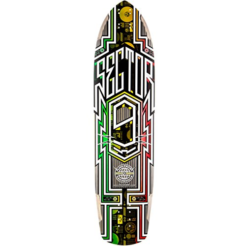 ht Deck Skateboard, Rasta (Sector 9 Carbon)