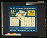 Photo: World War I,WWI,1917,Buy U.S. Government War Savings Stamps,Win the War,Bonds