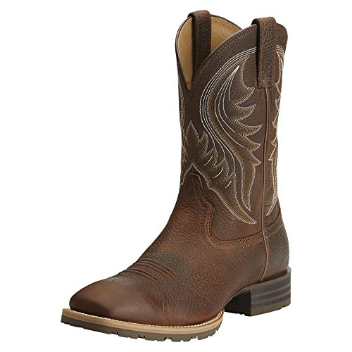 Ariat Men's Hybrid Rancher Western Boot, Brown Oiled Rowdy,