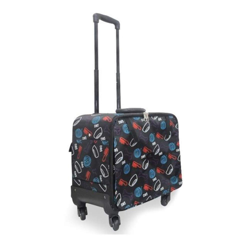 A 422343cmBigShiAUSPICIOUS Pet Trolley Travel Outing Portable Pet Dog Bag (color   A, Size   42  23  43cm)