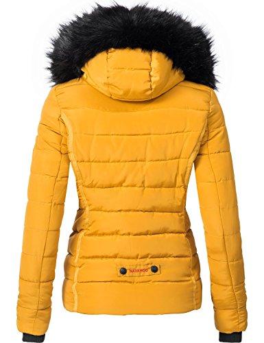 Giallo Trapuntata Da Giacca Sintetica Colori Con 9 Navahoo Invernale In Miamor xl Donna Cappuccio Pelliccia Xs xaqZZU5nw